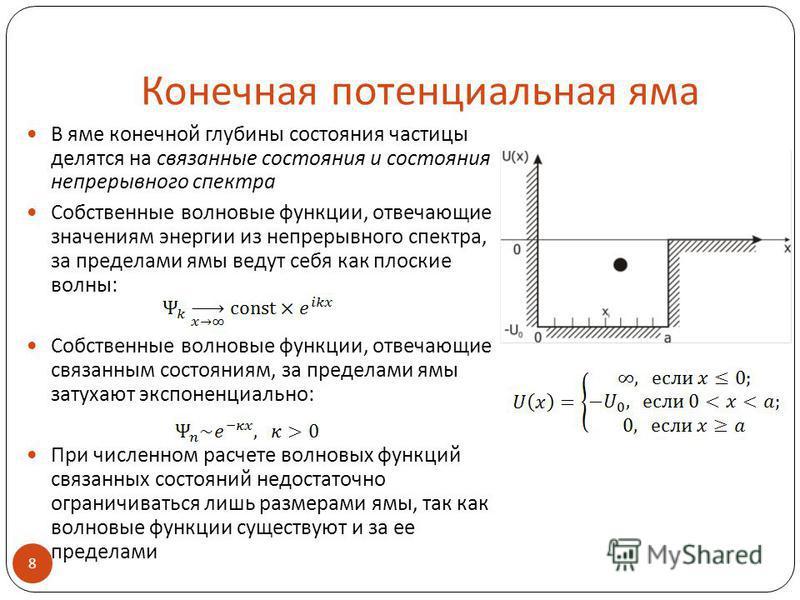 Уравнение шредингера с графиками
