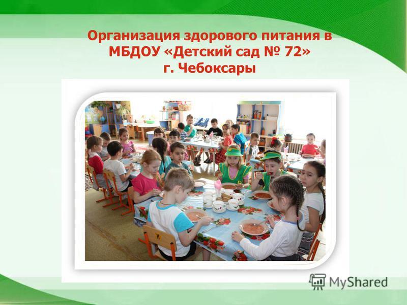 Организация здорового питания в МБДОУ «Детский сад 72» г. Чебоксары