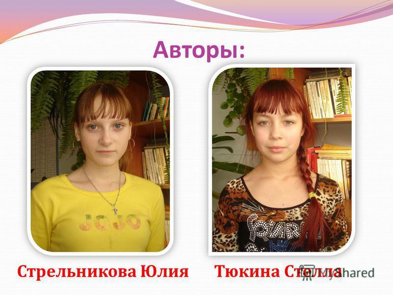 Авторы : Стрельникова Юлия Тюкина Стелла