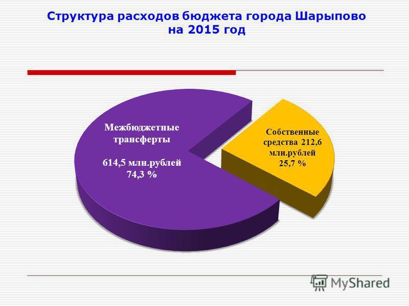 Структура расходов бюджета города Шарыпово на 2015 год