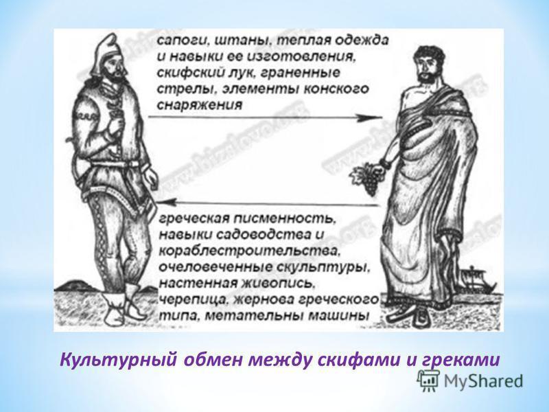 Культурный обмен между скифами и греками