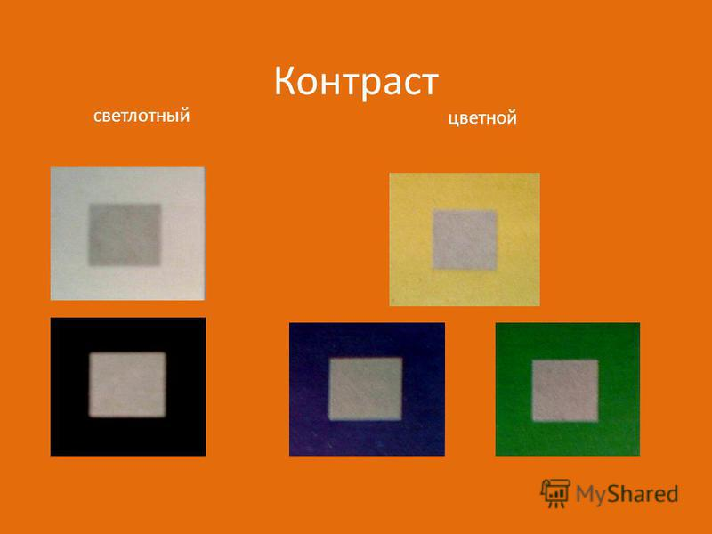 Контраст цветной светлотный