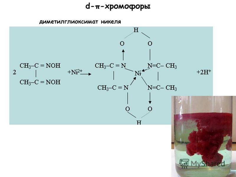 d-π-хромофоры диметилглиоксимат никеля