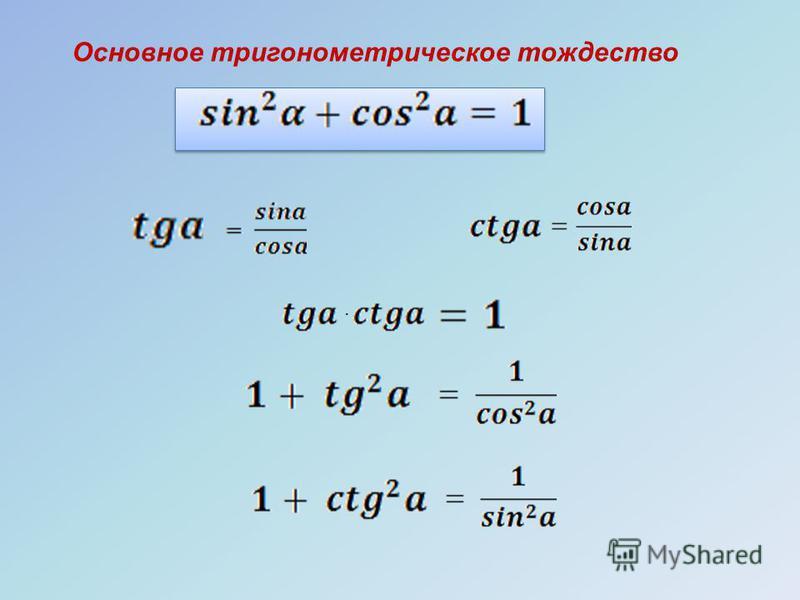 Основное тригонометрическое тождество ·