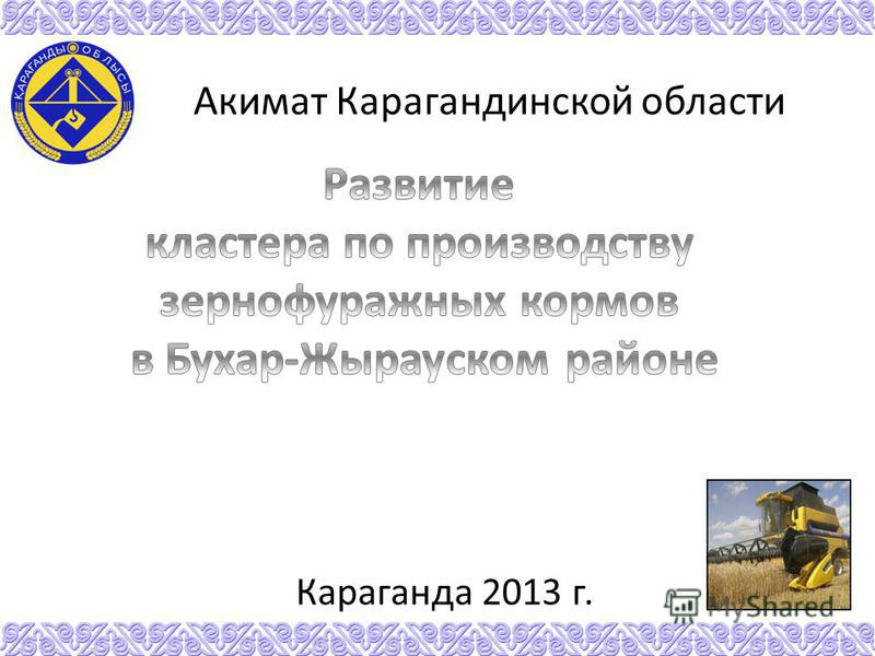 Караганда 2013 г. Акимат Карагандинской области