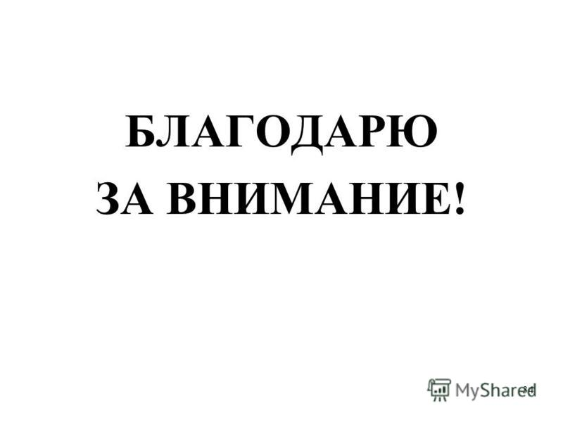 34 БЛАГОДАРЮ ЗА ВНИМАНИЕ!