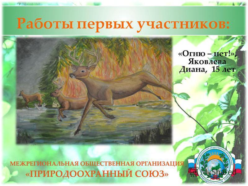 Работы первых участников: 11 «Огню – нет!», Яковлева Диана, 15 лет