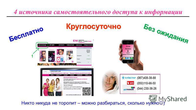 4 источника самостоятельного доступа к информации Круглосуточно Бесплатно Без ожидания Никто никуда не торопит – можно разбираться, сколько нужно )