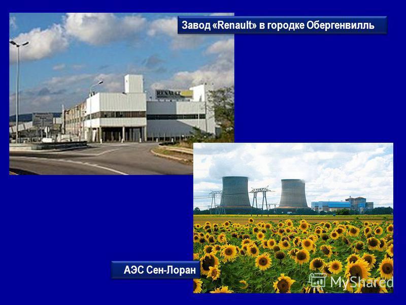Завод «Renault» в городке Обергенвилль АЭС Сен-Лоран