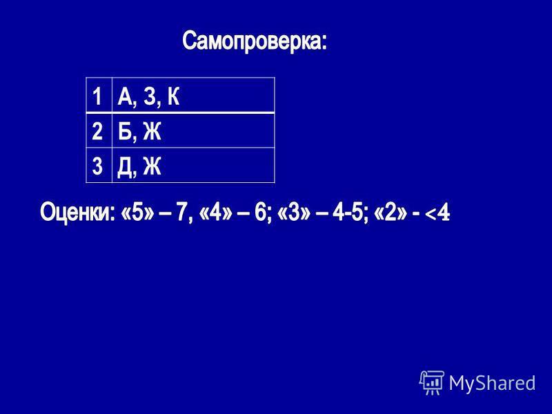 1А, З, К 2Б, Ж 3Д, Ж