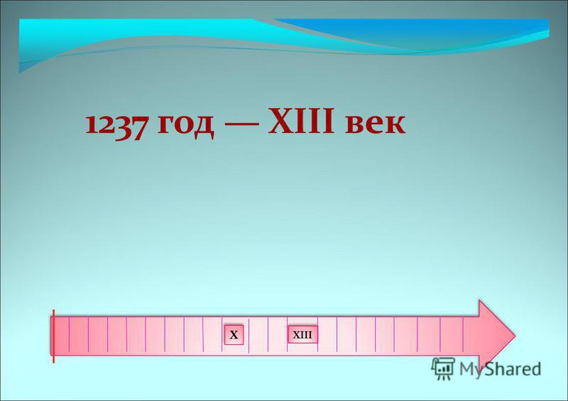 1237 год XIII век X XIII