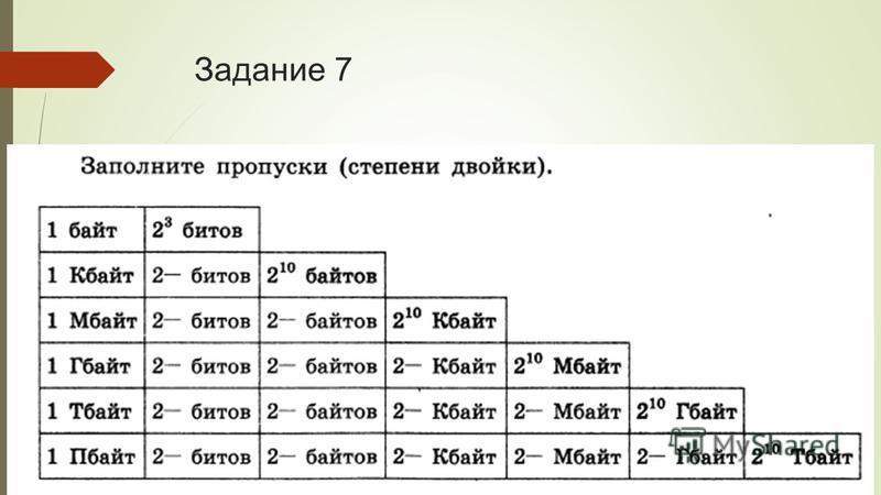 Задание 7