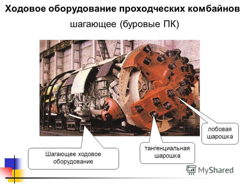 Ходовое оборудование проходческих комбайнов шагающиее (буровые ПК) Шагающее ходовое оборудование лобовая шарошка тангенциальная шарошка