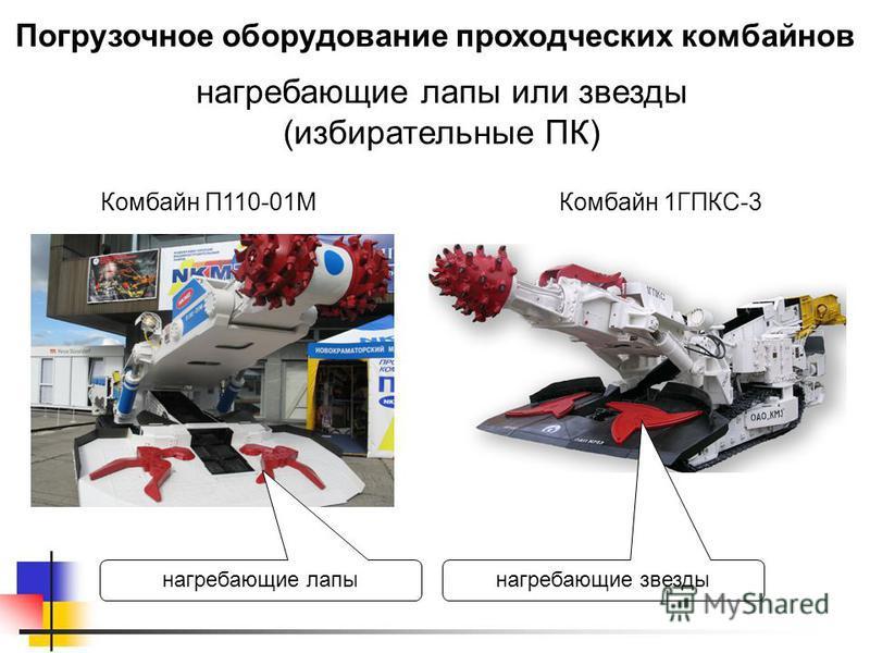 Погрузочное оборудование проходческих комбайнов нагребающие лапы или звезды (избирательные ПК) нагребающие лапы Комбайн 1ГПКС-3 нагребающие звезды Комбайн П110-01М