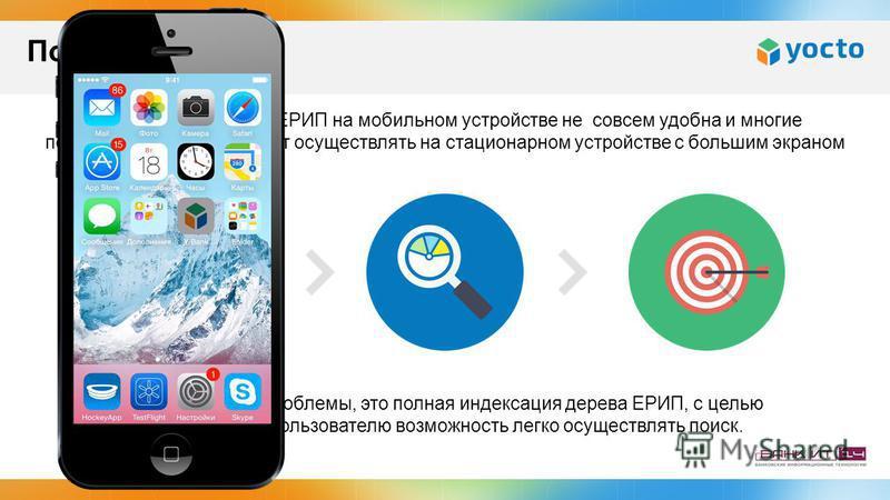 Навигация по дереву ЕРИП на мобильном устройстве не совсем удобна и многие пользователи предпочитают осуществлять на стационарном устройстве с большим экраном Наше решение проблемы, это полная индексация дерева ЕРИП, с целью предоставить пользователю