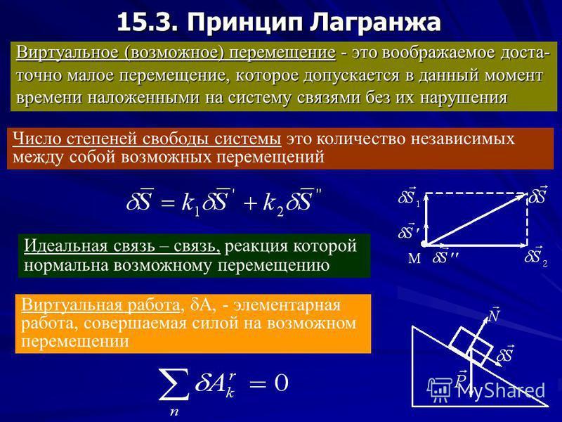 15.2. Принцип Даламбера Для механической системы: если к каждой точке механической системы в любой момент времени кроме фактически действующих на нее внешних и внутренних сил приложить соответствующие силы инерции, то вся система сил будет приведена