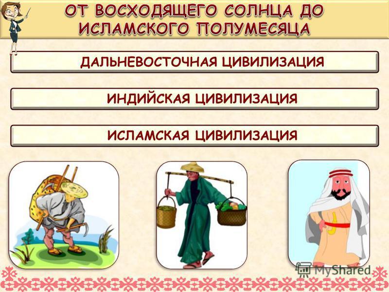 ДАЛЬНЕВОСТОЧНАЯ ЦИВИЛИЗАЦИЯ ИНДИЙСКАЯ ЦИВИЛИЗАЦИЯ ИСЛАМСКАЯ ЦИВИЛИЗАЦИЯ