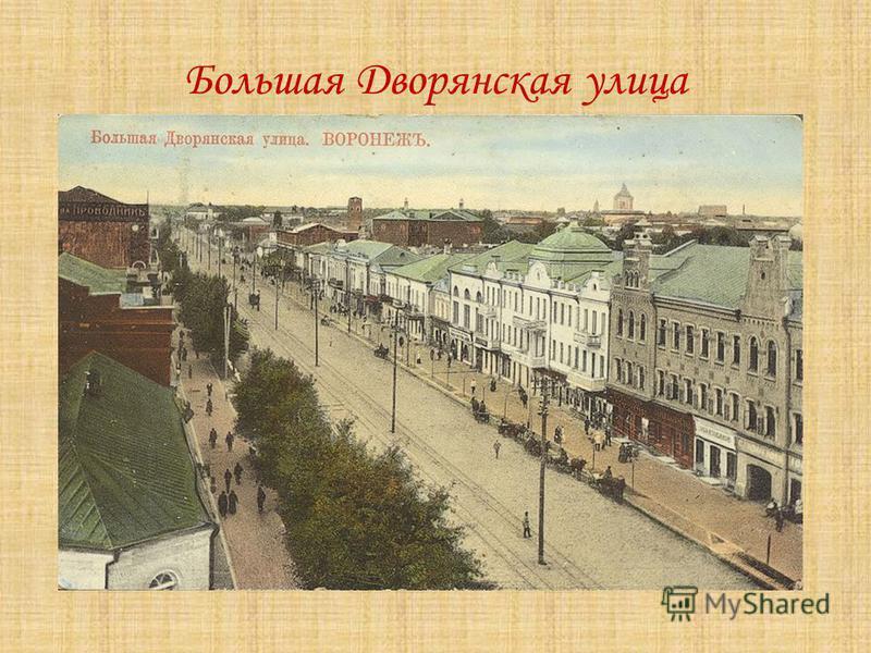 Большая Дворянская улица