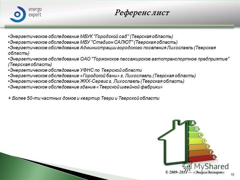 10 Референс лист Энергетическое обследование МБУК