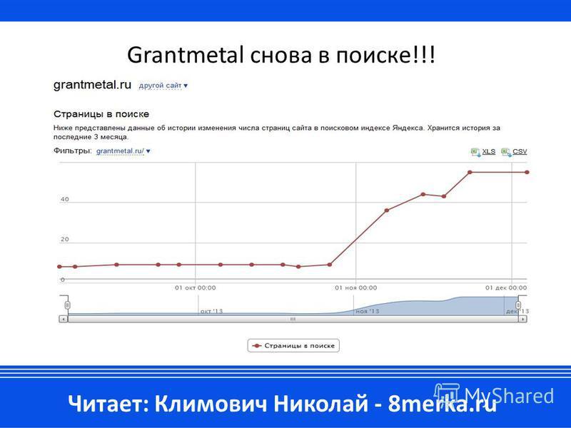 Grantmetal снова в поиске!!! Читает: Климович Николай - 8merka.ru