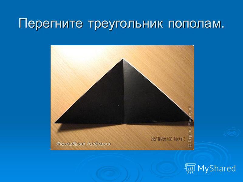 Перегните треугольник пополам.