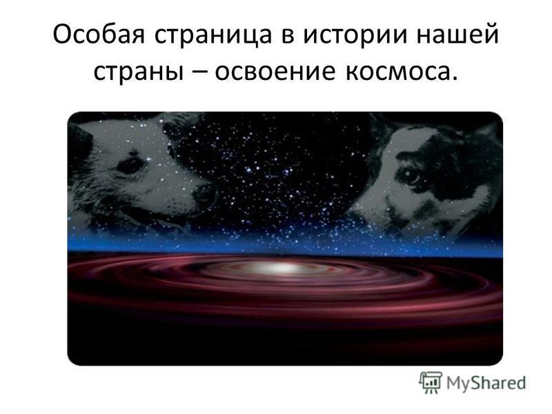 Особая страница в истории нашей страны – освоение космоса.