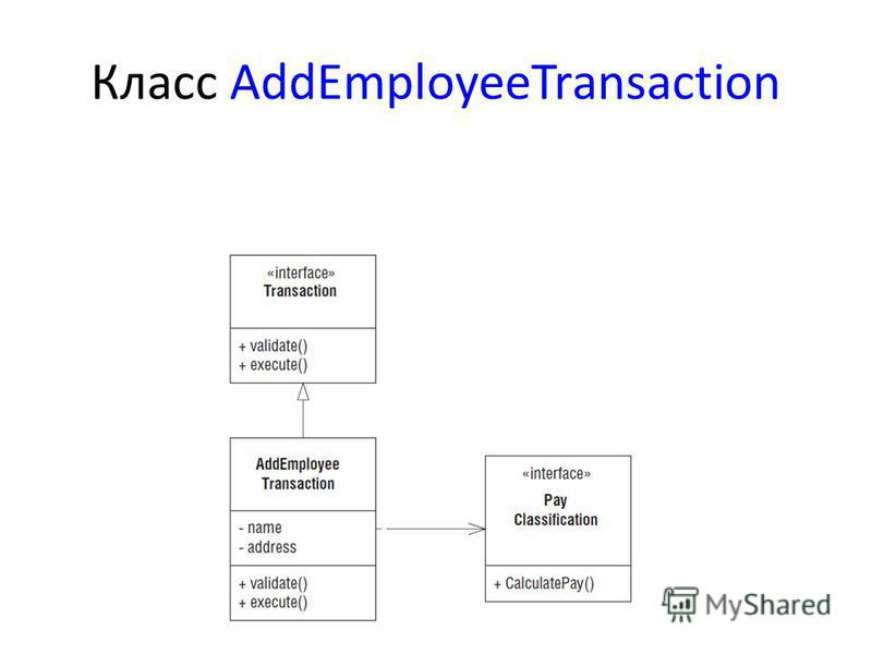 Класс AddEmployeeTransaction