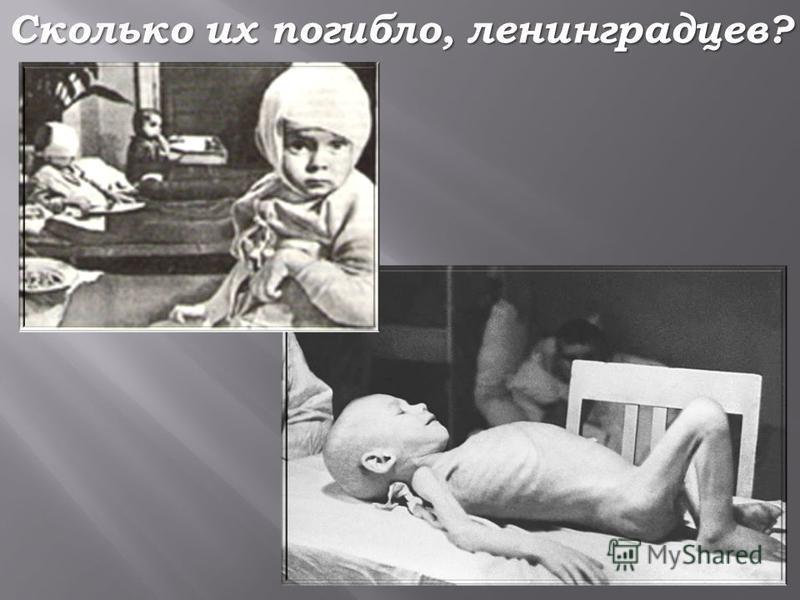 Сколько их погибло, ленинградцев?