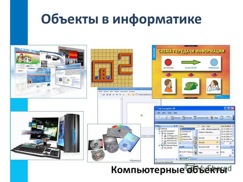 Объекты в информатике Компьютерные объекты