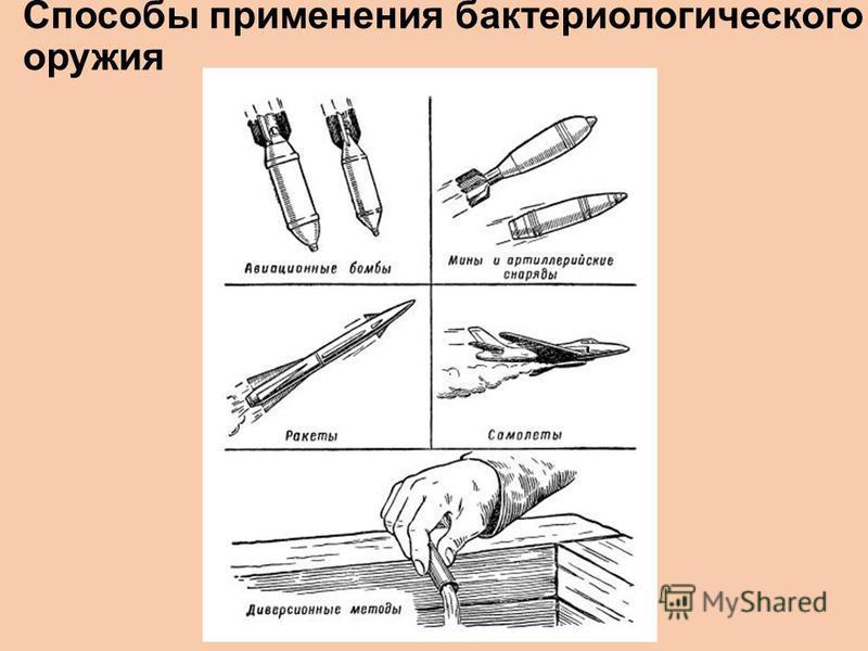 Способы применения бактериологического оружия
