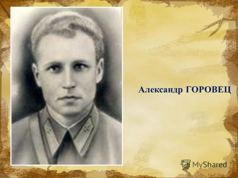 Александр ГОРОВЕЦ