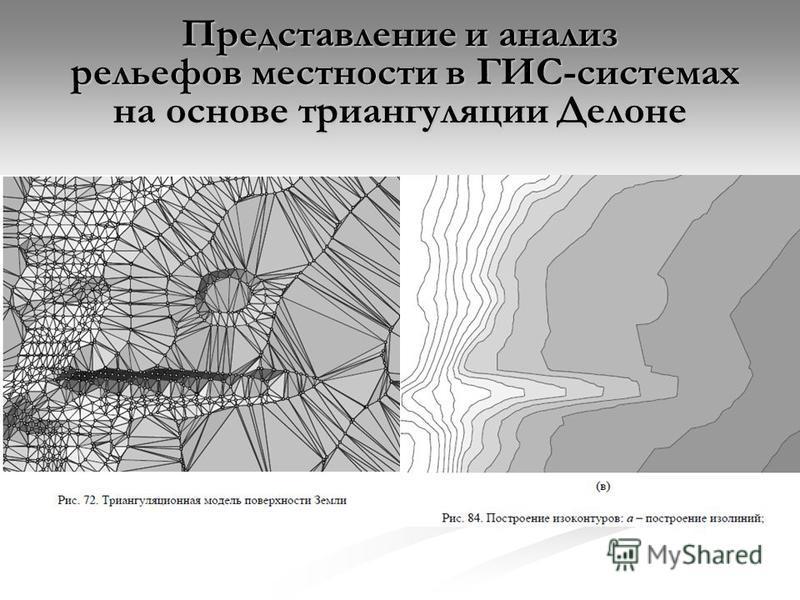 Представление и анализ рельефов местности в ГИС-системах на основе триангуляции Делоне