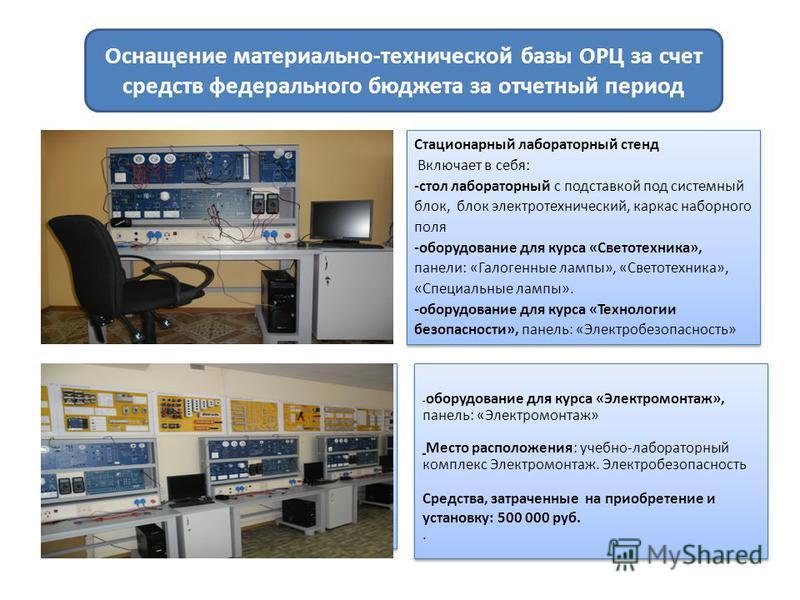 Стационарный лабораторный стенд Включает в себя: -стол лабораторный с подставкой под системный блок, блок электротехнический, каркас наборного поля -оборудование для курса «Светотехника», панели: «Галогенные лампы», «Светотехника», «Специальные лампы