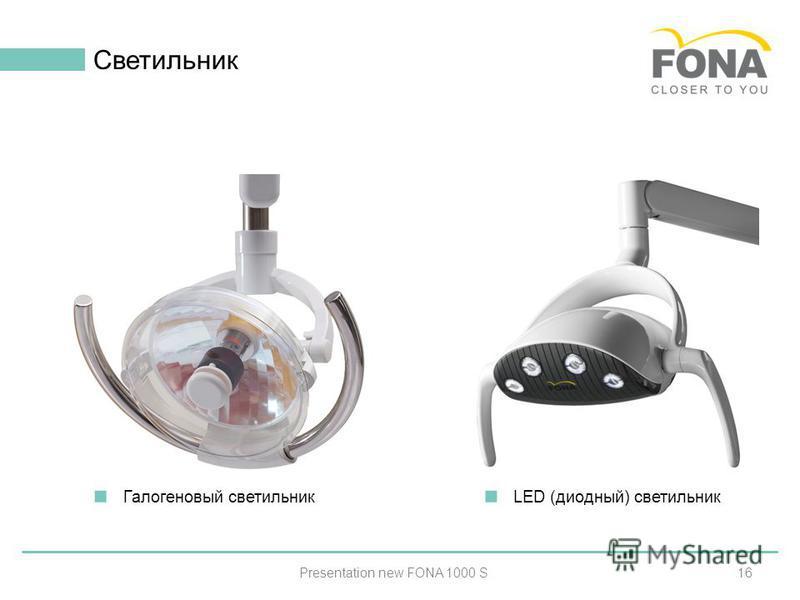 16 Светильник Presentation new FONA 1000 S Галогеновый светильник LED (диодный) светильник