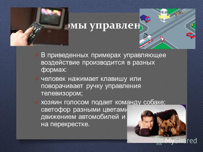 Примеры Рис. 3.2. Схема системы управления без обратной связи