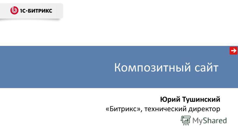 Композитный сайт Юрий Тушинский «Битрикс», технический директор