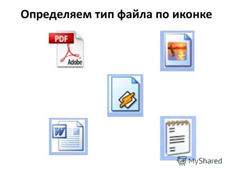 Определяем тип файла по иконке