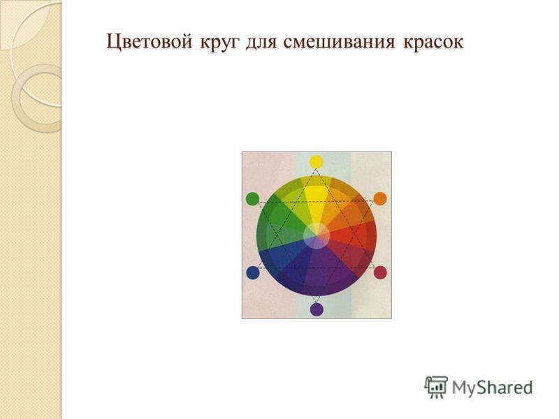 Цветовой круг для смешивания красок Цветовой круг для смешивания красок