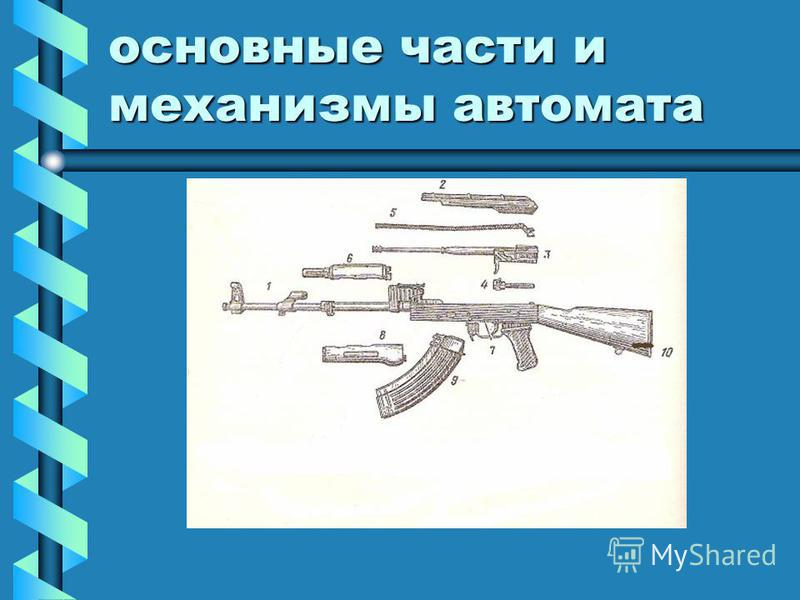 основные части и механизмы автомата
