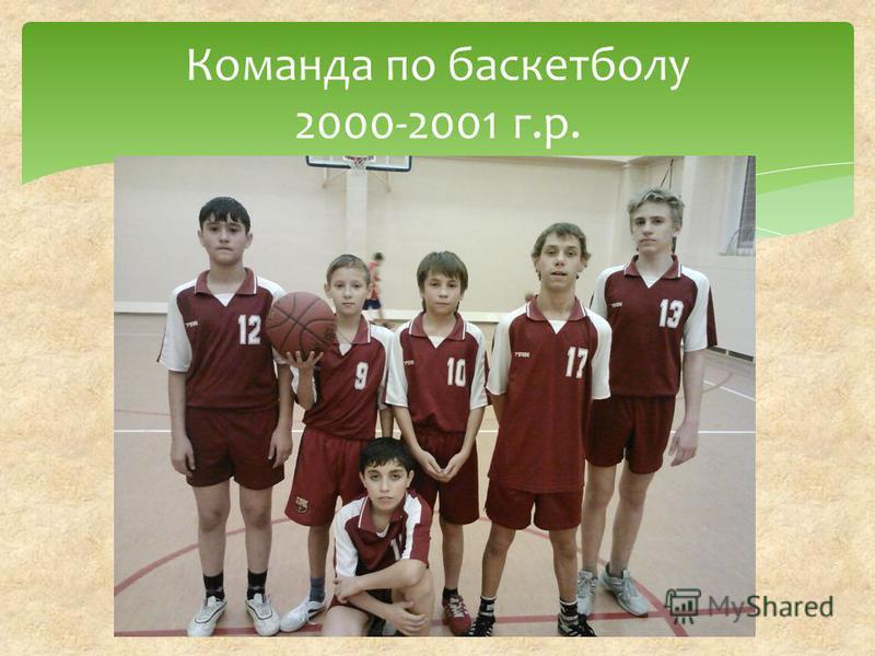 Команда по баскетболу 2000-2001 г.р.