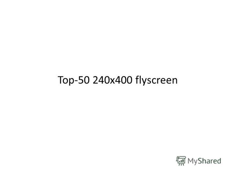 Top-50 240 х 400 flyscreen