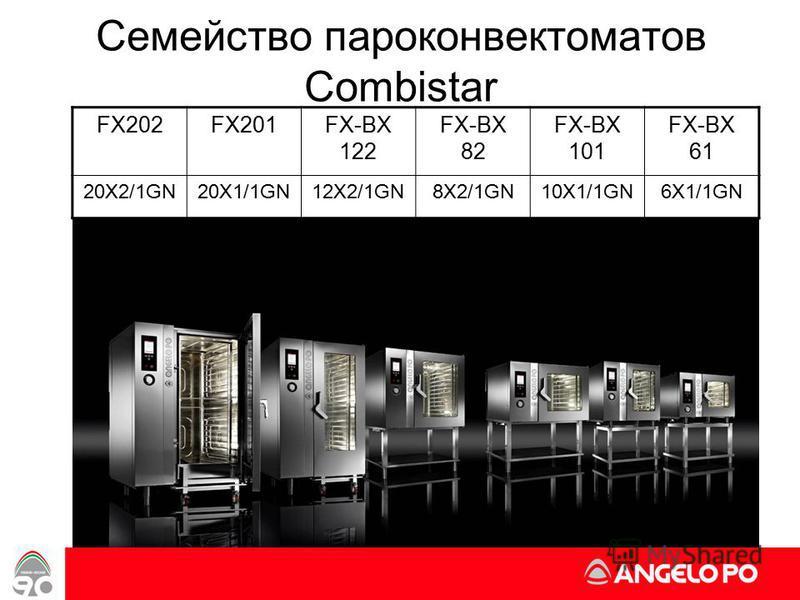 www.angelopo.it 2 Семейство пароконвектоматов Combistar FX202FX201FX-BX 122 FX-BX 82 FX-BX 101 FX-BX 61 20X2/1GN20X1/1GN12X2/1GN8X2/1GN10X1/1GN6X1/1GN
