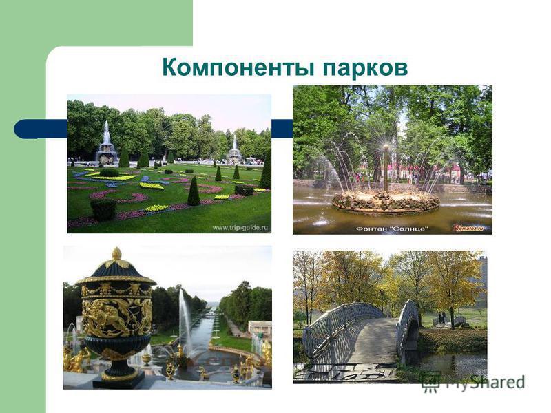 Компоненты парков