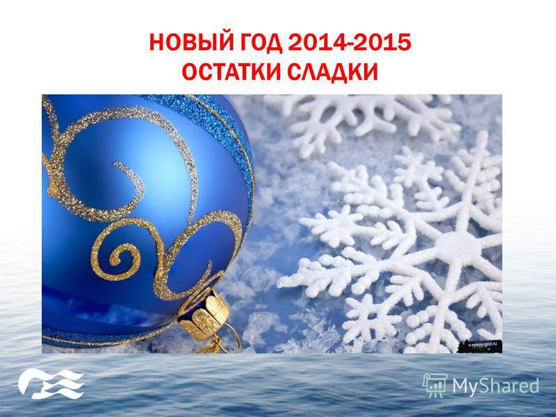 НОВЫЙ ГОД 2014-2015 ОСТАТКИ СЛАДКИ