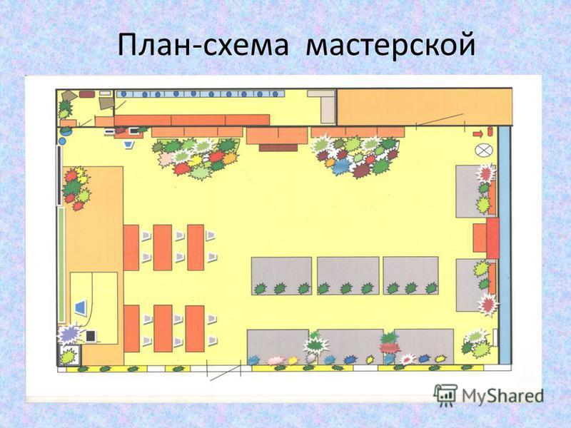 План-схема мастерской