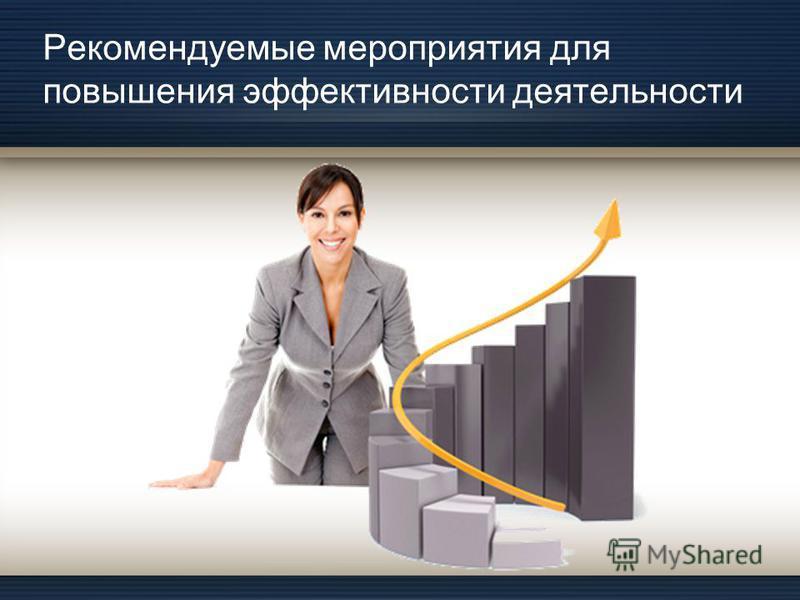Рекомендуемые мероприятия для повышения эффективности деятельности