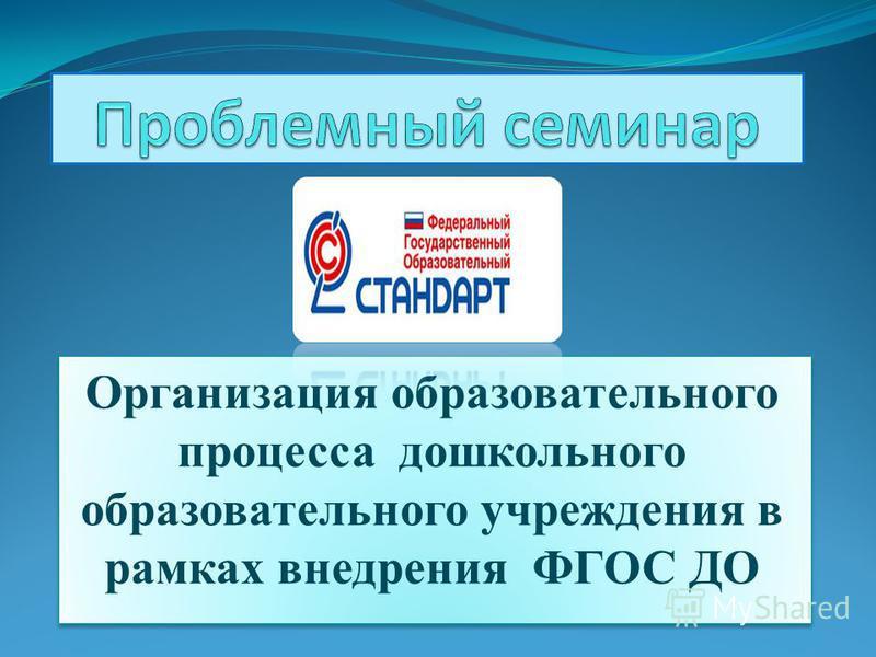 Организация образовательного процесса дошкольного образовательного учреждения в рамках внедрения ФГОС ДО