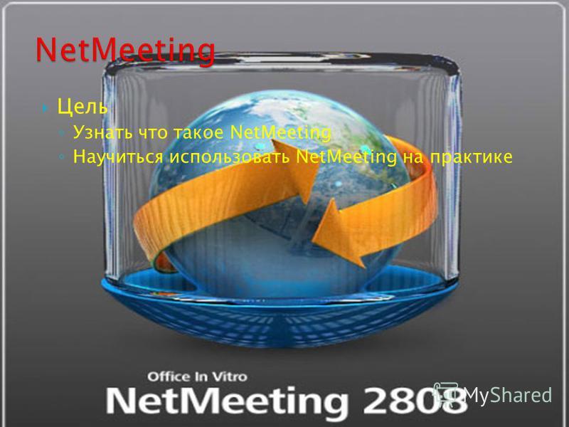 Цель Узнать что такое NetMeeting Научиться использовать NetMeeting на практике