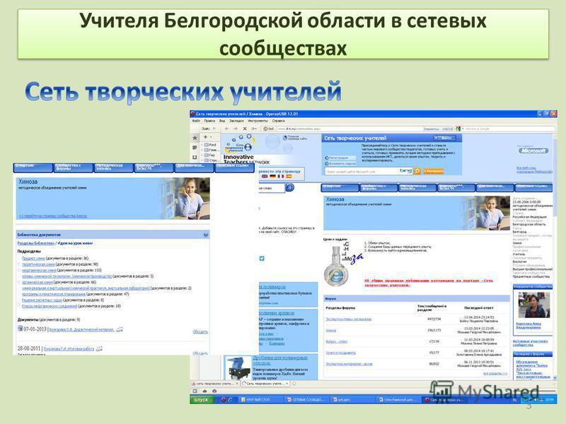 Учителя Белгородской области в сетевых сообществах 3