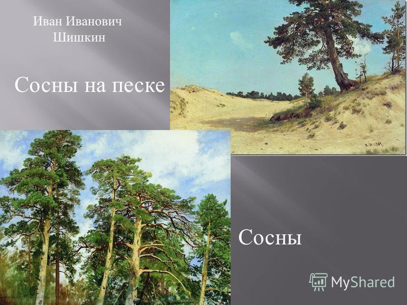 Иван Иванович Шишкин Сосны Сосны на песке